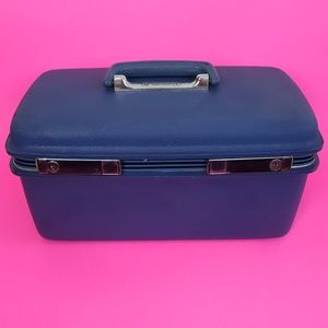 Vintage Samsonite Blue Train Case